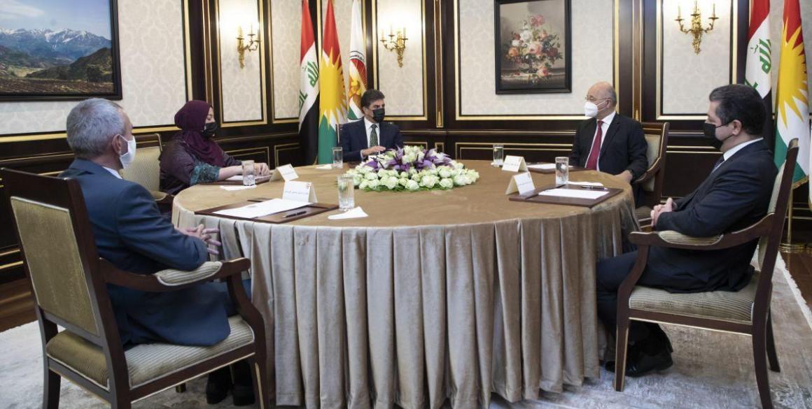 Treffen der Präsidentschaften der Region Kurdistan mit dem irakischen Präsidenten