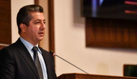 Premierminister Barzani spricht vor dem Kurdistan Parlament