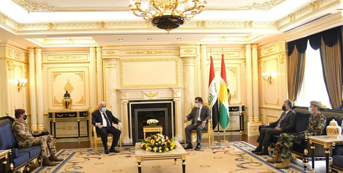 Premierminister Masrour Barzani empfängt den Leiter der irakischen Volksmobilisierungskräfte