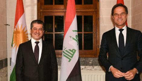Premierminister Masrour Barzani trifft sich mit dem niederländischen Premierminister Mark Rutte