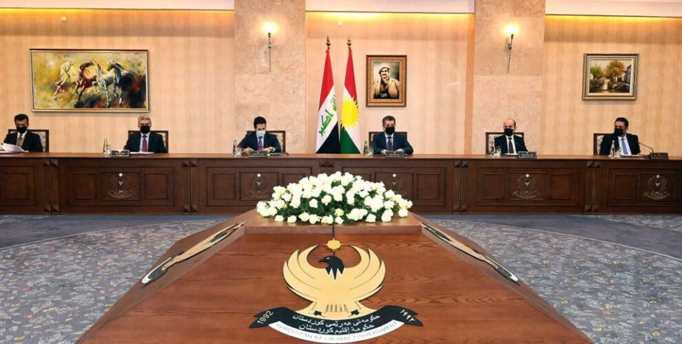 Der Ministerrat tritt über Dialog mit Bagdad zusammen
