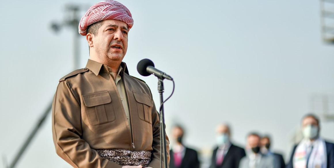 Prime Minister Barzani addresses Peshmerga Forces on Kurdistan Flag Day