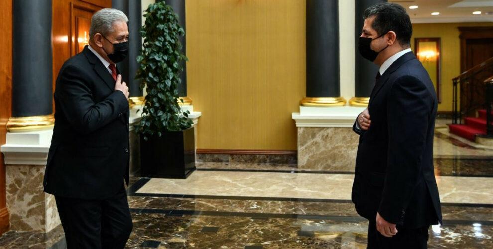 Premierminister Barzani empfängt den Leiter der Nationalen Sicherheitsagentur des Irak