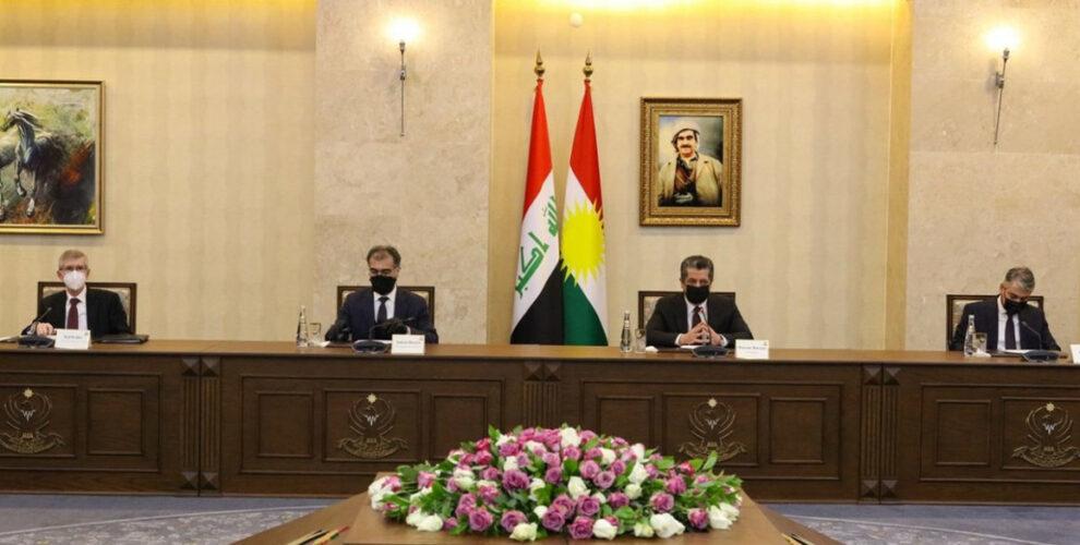Premierminister Masrour Barzani trifft die ausländischen Vertreter in der Region Kurdistan