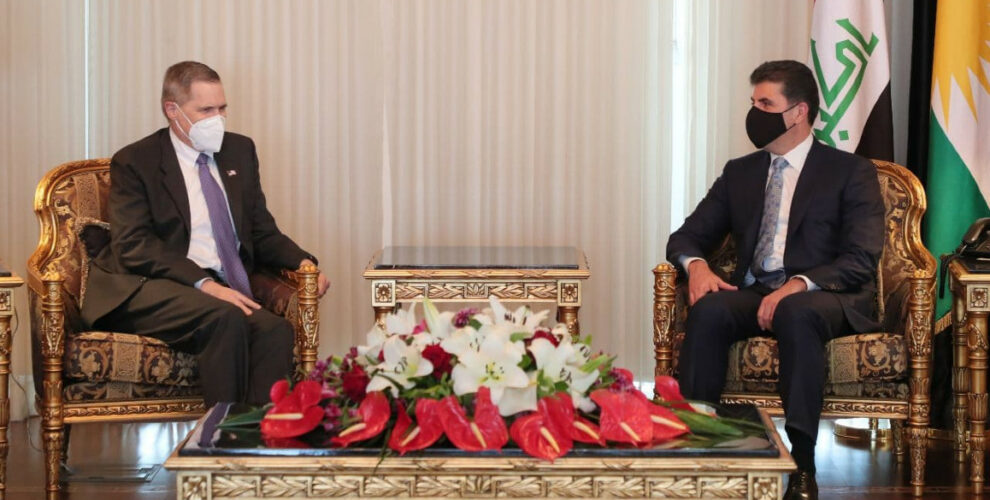 Kurdistan Region President meets with the U.S. Ambassador