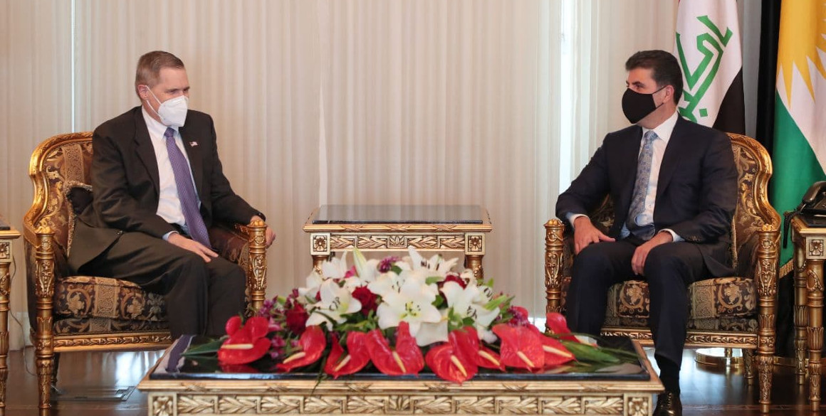 Der Präsident der Region Kurdistan trifft sich mit dem US-Botschafter
