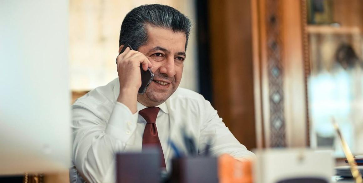 Anruf zwischen Premierminister Masrour Barzani und Außenminister Jean-Yves Le Drian