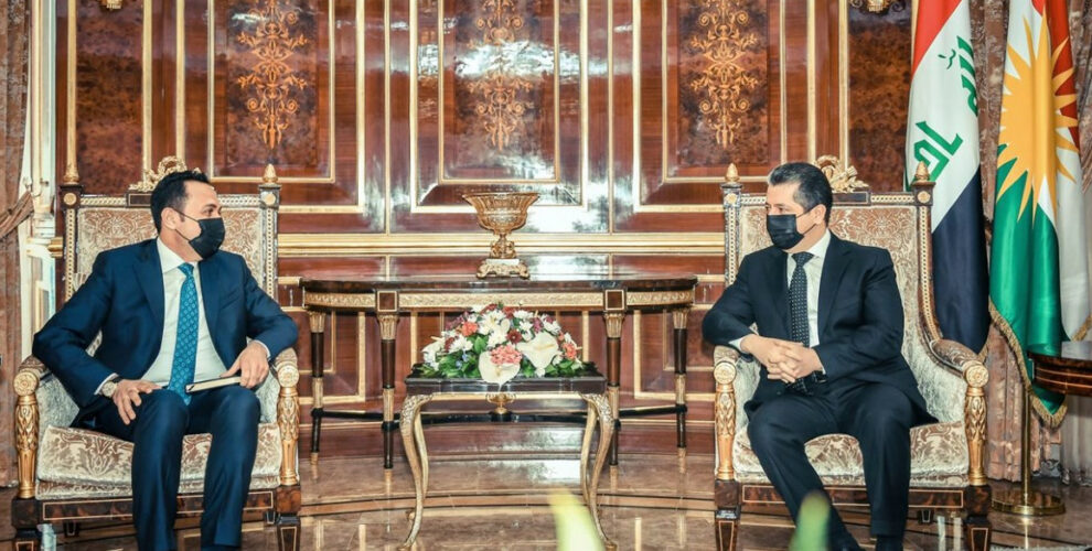 Prime Minister Masrour Barzani welcomes new Governor of Erbil