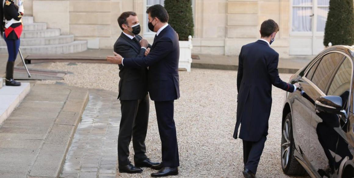 President Nechirvan Barzani and President Emmanuel Macron meet in Paris