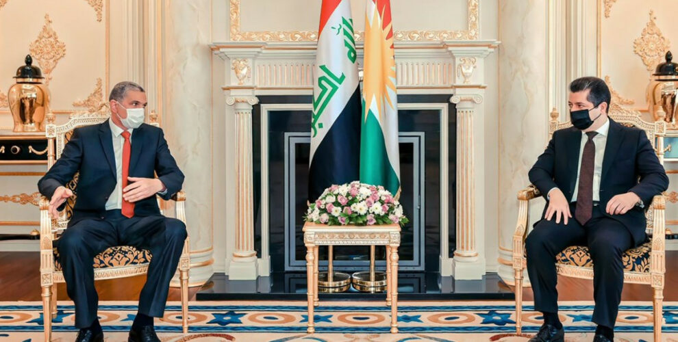 Prime Minister Masrour Barzani receives Interior Minister of Iraq