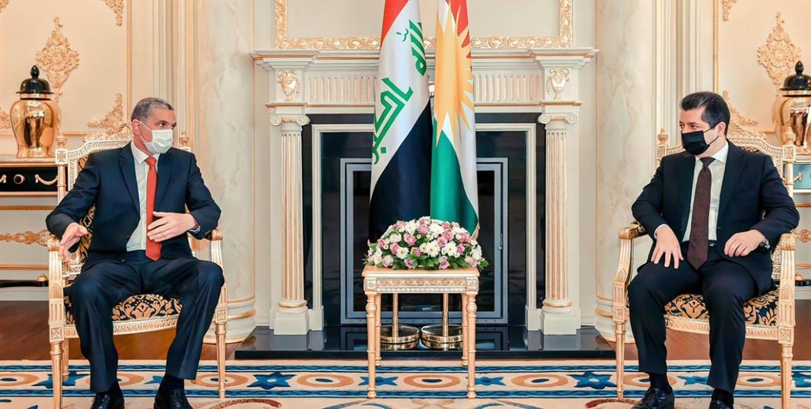 Premierminister Masrour Barzani empfängt den irakischen Innenminister