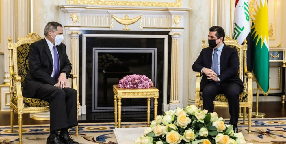Prime Minister Masrour Barzani meets with US Ambassador to Iraq