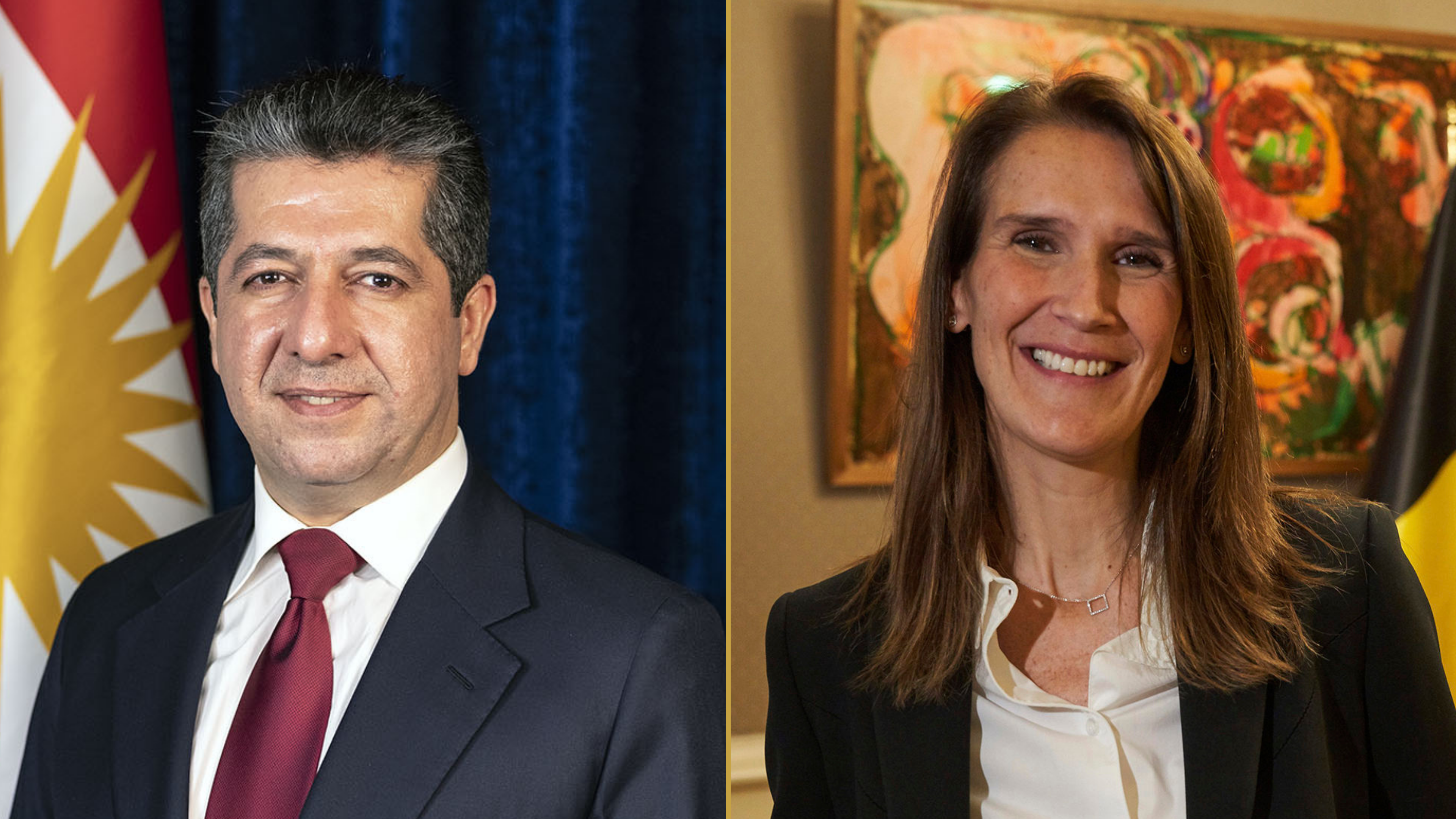 PM Masrour Barzani's call with Belgium Deputy PM