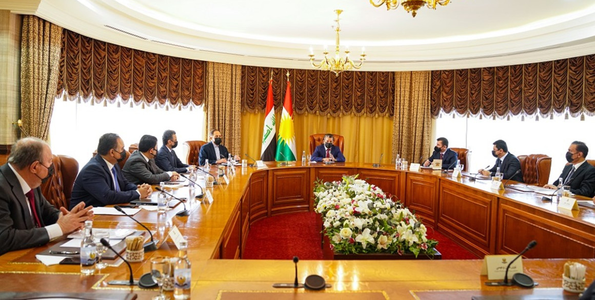 Prime Minister Masrour Barzani Meets with KRG Delegation to Baghdad