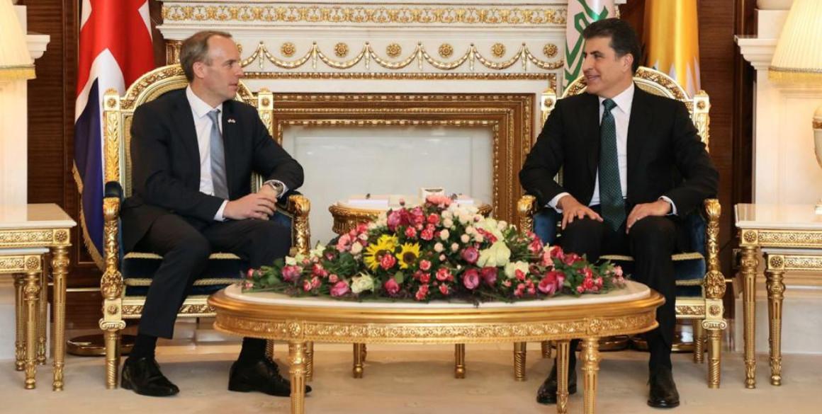 Präsident Barzani empfängt britischen Außenminister