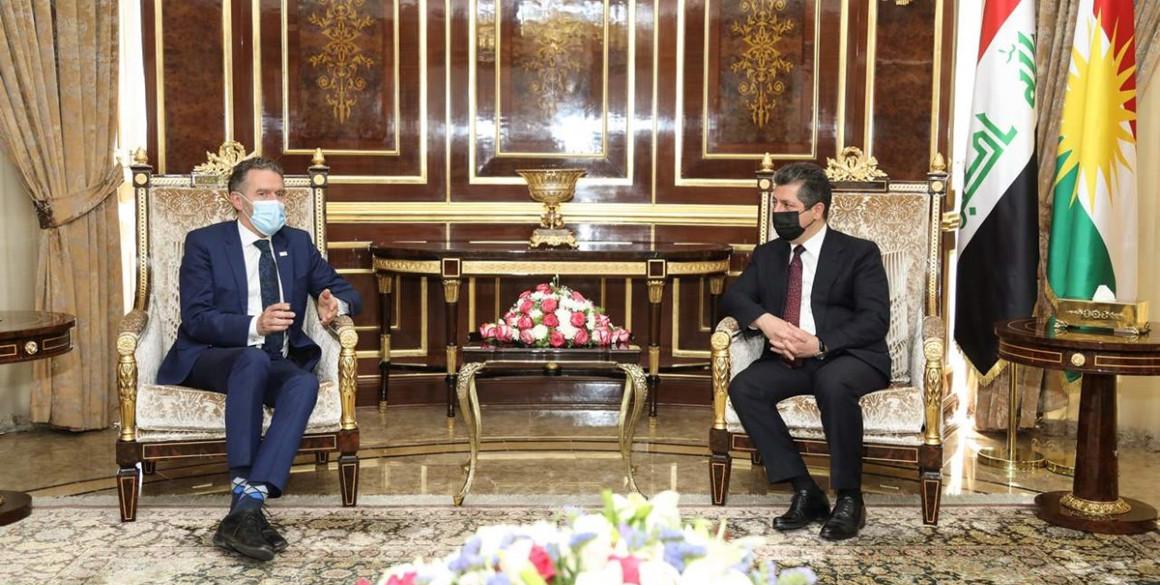 Premierminister Barzani trifft den Stv. Exekutivdirektor des UNFPA