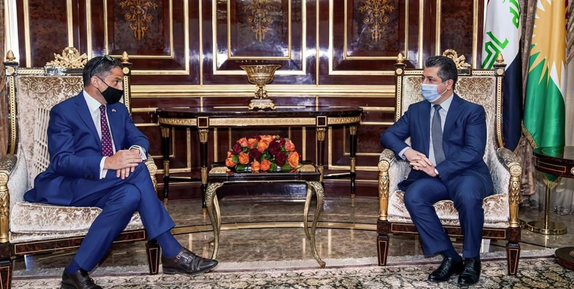 PM Masrour Barzani empfängt neuen US-Generalkonsul in Erbil