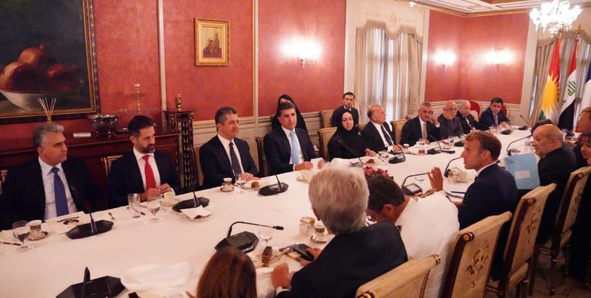 Französischer Präsident Emmanuel Macron besucht Erbil