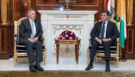 Präsident Nechirvan Barzani trifft US-Botschafter in Erbil