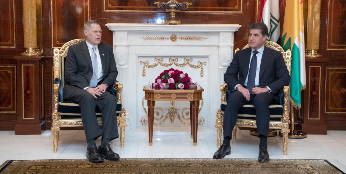 Kurdistan Region President receives US Ambassador