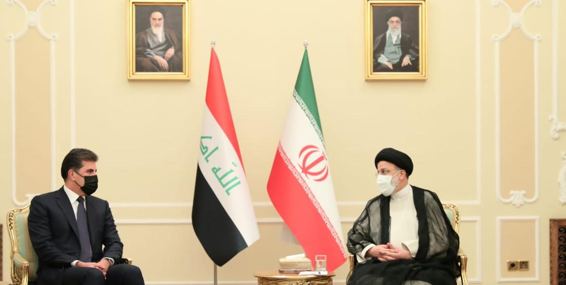 Präsident Nechirvan Barzani trifft neuen iranischen Präsidenten, Ebrahim Raisi