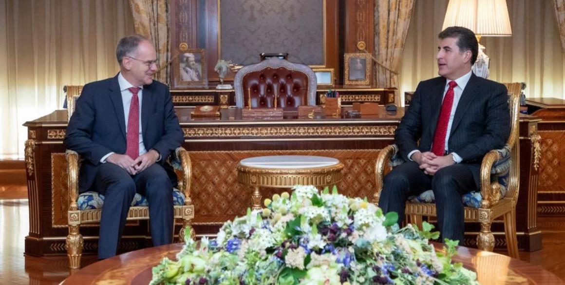 President Barzani receives Austrian Ambassador to Iraq