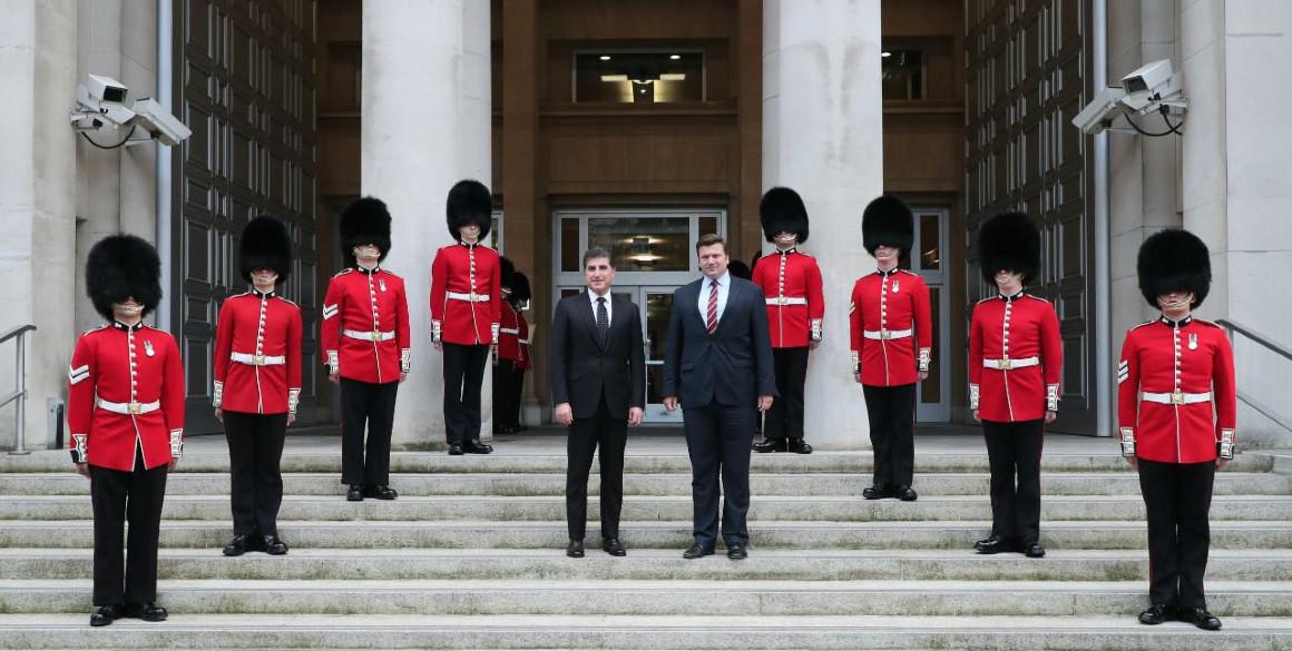 Präsident der Region Kurdistan trifft britischen Verteidigungsminister