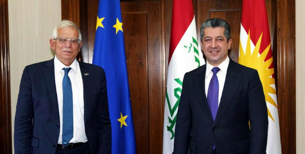 PM Masrour Barzani meets with the EU's High Representative