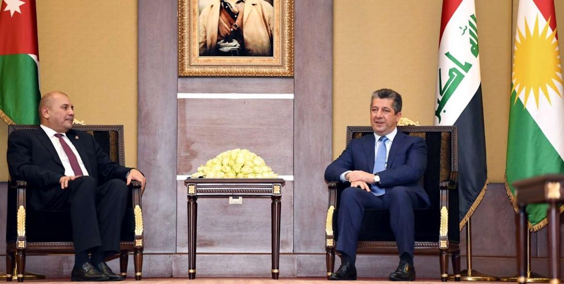 Premierminister Masrour Barzani trifft den jordanischen Parlamentspräsidenten