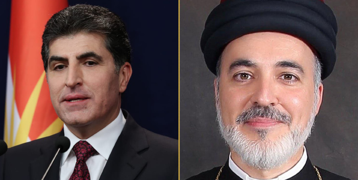Präsident Nechirvan Barzani gratuliert dem neuen Patriarchen, Mar Awa III